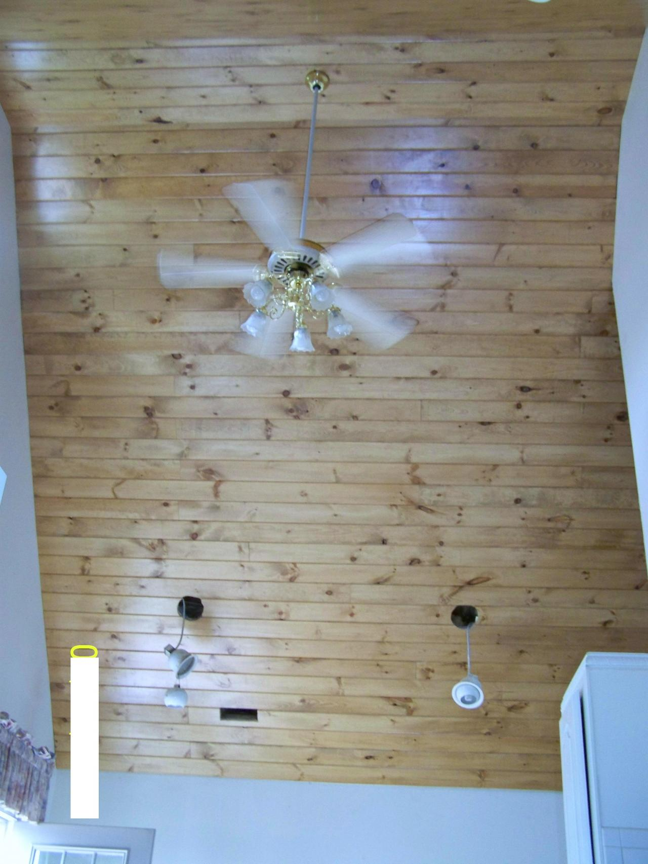 Gentry's Home Improvements - Tongue and groove pine wood ceiling